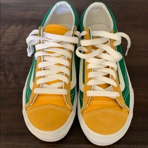 Green and Yellow Vans